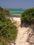Manera a la playa fotos de archivo libres de regalías