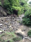 Manera a las caídas del agua de Himchharri imagen de archivo
