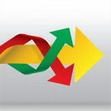 Manera lateral de las flechas en el gráfico Imagen de archivo