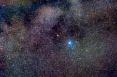 Manera lechosa en la constelación de Aquila con altaír Fotos de archivo libres de regalías