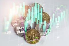 Manera moderna de intercambio Bitcoin es pago conveniente en global Imagen de archivo