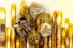 Manera moderna de intercambio Bitcoin es pago conveniente en global fotografía de archivo