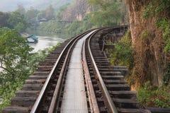 Manera paralela al ferrocarril del acantilado Foto de archivo libre de regalías
