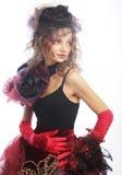 Manera tirada de mujer en estilo de la muñeca Maquillaje creativo El Dr. de la fantasía Imagen de archivo libre de regalías