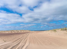 Manera a través del desierto Fotos de archivo libres de regalías