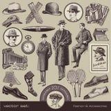 Manera y accesorios de los caballeros Fotografía de archivo libre de regalías