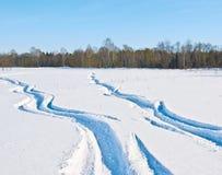 Maneras de la nieve Foto de archivo libre de regalías