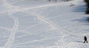Maneras en la nieve imagen de archivo
