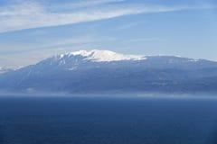 从Manerba Rocca的Garda湖  库存图片