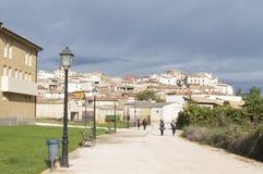 Maneru city, road to Santiago de Compostela, Navarre Stock Photography