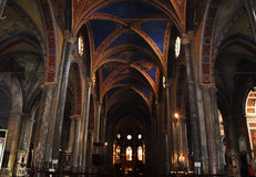 Manerva sopra Santa Maria di Chiesa Стоковая Фотография