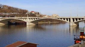 Manes Bridge in Praag royalty-vrije stock fotografie