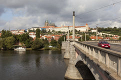 Manes Bridge and Prague Castle. Prague. Czech Republic. Royalty Free Stock Image