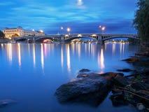 Manes Bridge, Prague. Manes Bridge in the summer evening in Prague Stock Photography