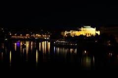 Manes bridge and Rudolfinum in Prague Stock Photography