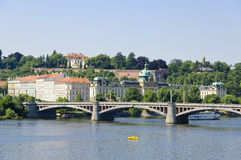 Manesuv Bridge in Prague Royalty Free Stock Photo