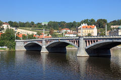 Manesuv most bridge in Prague. An old bridge in central Prague, Czech Royalty Free Stock Images