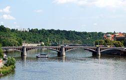 Manesuv Most Bridge, Prague. Manesuv Most Bridge over the Vltava River, Prague, Czech Republic, Eastern Europe Royalty Free Stock Image