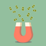 Manet ciągnienia pieniądze Zdjęcie Stock