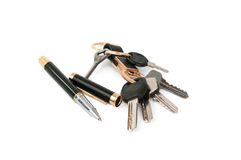 Maneta con claves   Foto de archivo