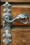 Maneta de puerta antigua fotografía de archivo libre de regalías