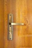 Maneta de puerta con la perilla de puerta de cobre Fotos de archivo libres de regalías