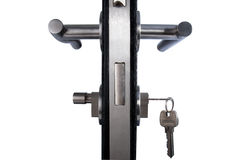 Maneta de puerta de aluminio Foto de archivo libre de regalías