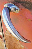 Maneta de puerta de coche de la vendimia imagen de archivo