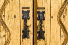 Manetas de puerta del hierro Fotografía de archivo libre de regalías