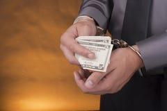 Manette di arresto Fotografia Stock Libera da Diritti