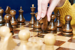 Maneuver with horse in chess game Stock Images