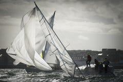 Maneuver at regatta Royalty Free Stock Photo