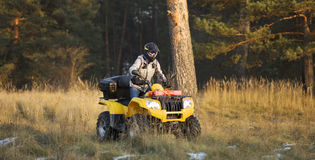 Maneuvering off-road ATV Stock Image