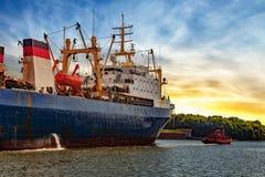 Maneuvers in port Stock Photos