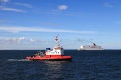 Maneuvers at sea Stock Image