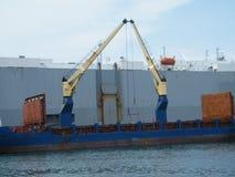 Maneuvres del porto nella città di Veracruz fotografia stock libera da diritti