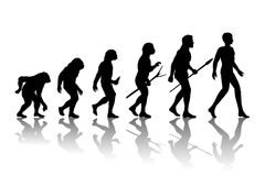 Manevolution vektor illustrationer