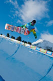 Manex Azula, Youth Olympic Games. SNOWBOARD Halfpipe: Manex Azula from Spain in the Halfpipe, Youth Olympic Games Innsbruck 2012. More info: http://www Royalty Free Stock Photo