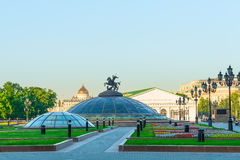 Manezh Square in central Moscow Royalty Free Stock Image