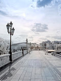 On Manezh Square. infrared photography Stock Images