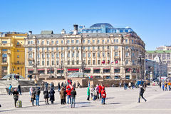 On Manezh Square. The National Hotel Stock Image