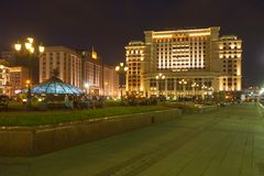 Manezh Square, State Duma, Moscow hotel building Stock Photography