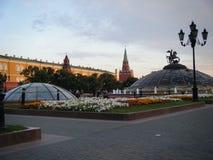 Manezhnaya广场在莫斯科 免版税库存图片