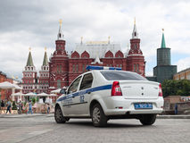 Manezhnaya fyrkant i Moskva Royaltyfri Foto