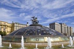 manezhnaya Moscow kwadrata zegarka świat Zdjęcia Royalty Free