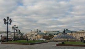 Manezhnaya ploshchad Moskwa ulicy scena Fotografia Stock