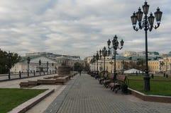 Manezhnaya ploshchad Moskwa ulicy scena Obrazy Stock