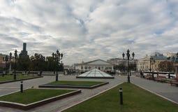Manezhnaya ploshchad Moskwa ulicy scena Obrazy Royalty Free