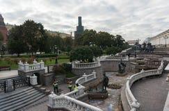 Manezhnaya ploshchad Moskwa ulicy scena Obraz Royalty Free
