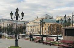 Manezhnaya ploshchad Moskwa ulicy scena Zdjęcia Royalty Free